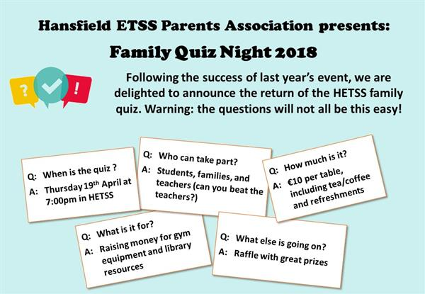Family Quiz Night 2018